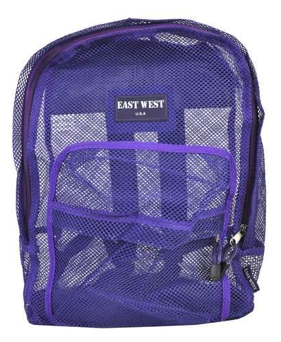 "East West See Through Mesh School Backpack 17"" Large Purple - Ace Trading Co."
