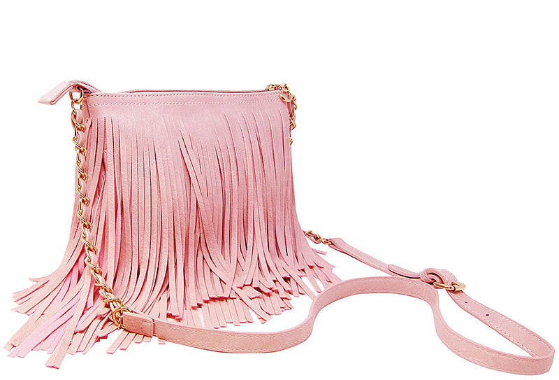 Western Fringe Cross Body Bag Coffee - Ace Handbag