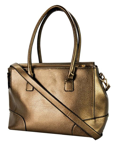 Stud Accent Belted 2 Way Tote Bronze - Ace Handbag