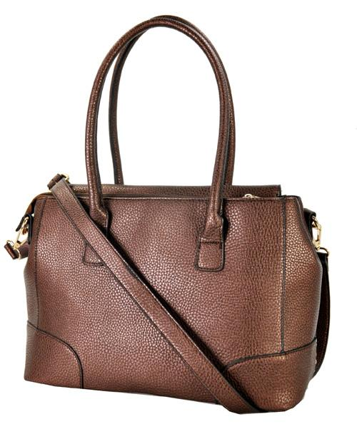 Stud Accent Belted 2 Way Tote Coffee - Ace Handbag