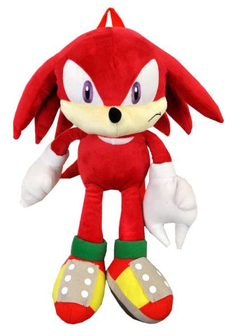 Sonic the Hedgehog Knuckles Plush Doll Backpack - 22 Inch Large Girls Boys Bag Sega - Ace Trading Co.