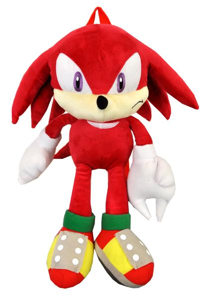 Sonic the Hedgehog Knuckles Plush Doll Backpack - 22 Inch Large Girls Boys Bag Sega - Ace Handbag