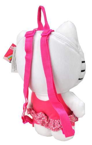 "Sanrio Hello Kitty Plush Backpack Small 14"" Sequin Dress - Ace Handbag"