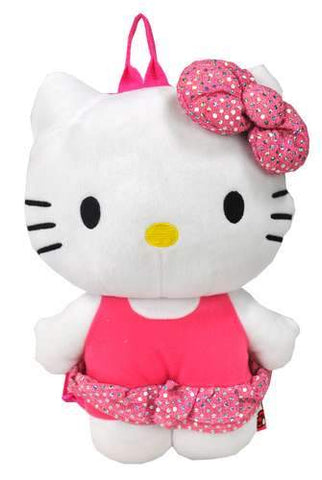 "Sanrio Hello Kitty Plush Backpack Small 14"" Sequin Dress - Ace Trading Co."