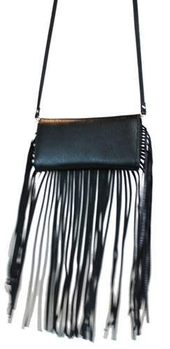 Western Cowgirl Fringe Crossbody Bag Black - Ace Handbag
