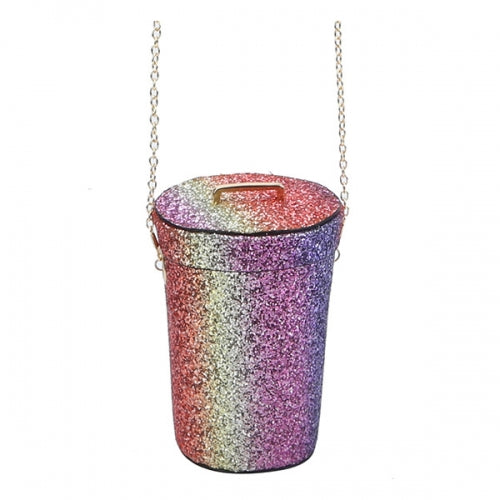 Glitter Cylinder Shaped Bucket Handbag MT3 - Ace Handbag