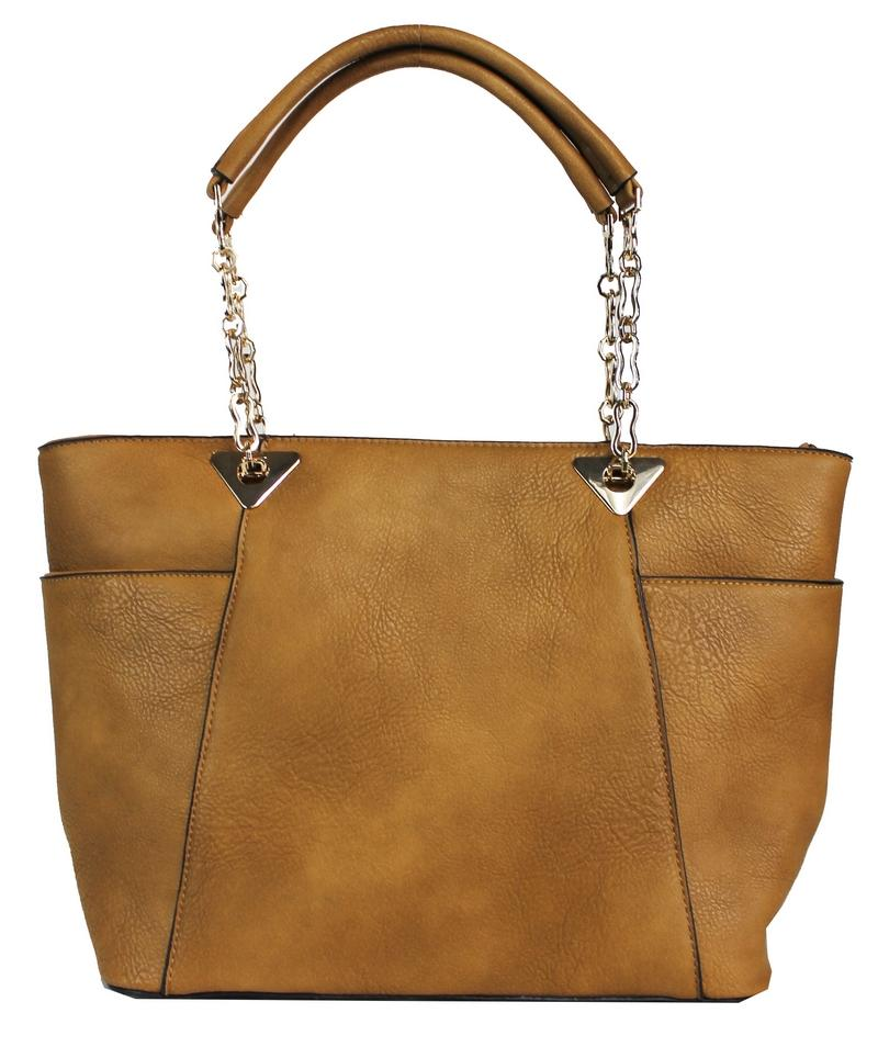 Elegant Boho Shoulder Bag with Chained Strap Brown - Ace Handbag
