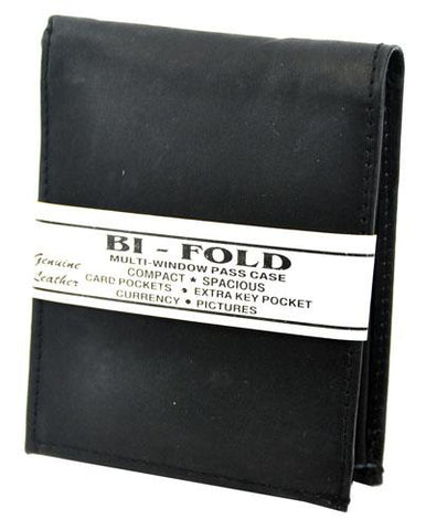 Bi-Fold Plain Wallet Black - Ace Trading Co.