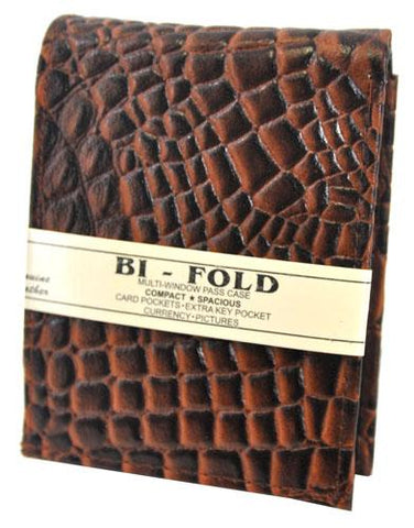 Bi-Fold Crocs Wallet Brown