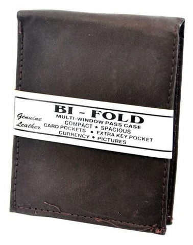 Bi-Fold Plain Wallet Dark Brown