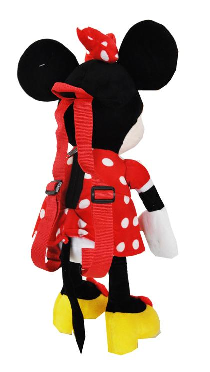 "Disney Clubhouse Red Minnie Mouse Large 16"" Plush Doll Backpack - Ace Handbag"