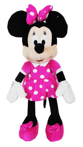 "Disney Clubhouse Pink Minnie Mouse Large 16"" Plush Doll Backpack - Ace Trading Co."