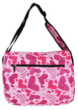 East West 600D Polyester Kids School Messenger Book Bag Pinky Heart - Ace Trading Co.