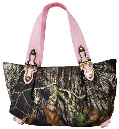 Copy of Mossy Oak® Camo Rhinestone Buckle Western Bling Hobo Pink Black