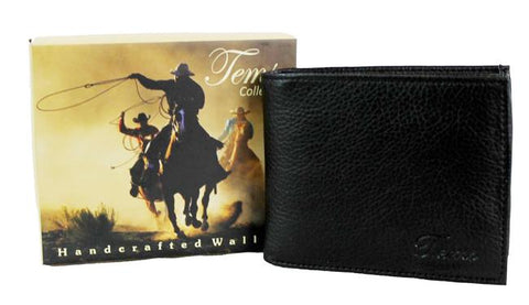 Tems Western Collection Bi-Fold Men Wallet Black - Ace Trading Co.