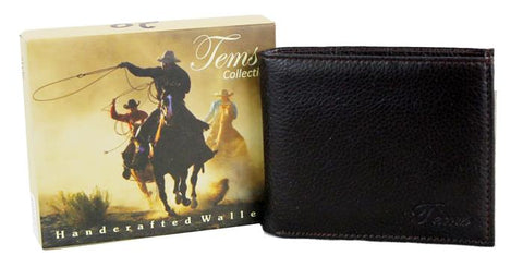 Tems Western Collection Bi-Fold Men Wallet Dark Brown