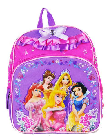 "Disney Princesses 10"" Mini Backpack - Snow Rapunzel Belle Girls Book - Ace Trading Co."