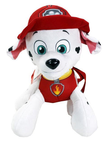 "Nickelodeon Paw Patrol 14"" Fire Marshall Plush Backpack - Ace Trading Co."