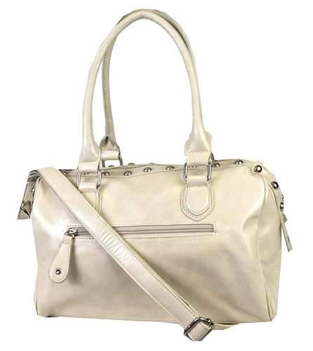 Sundae Sky® Rhinestone & Stud Boston Tote Bone - Ace Handbag