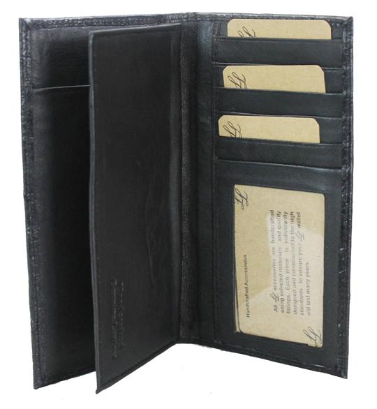 Ostrich Leather Bifold Wallet - Ace Handbag