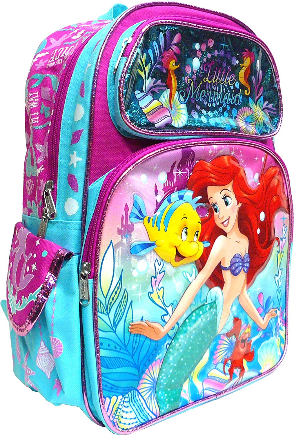 "Little Mermaid Ariel 16"" Backpack - Ace Handbag"