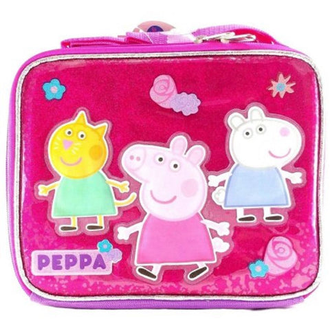 Nick Peppa Pig School Lunch Bag Insulated Snack Bag