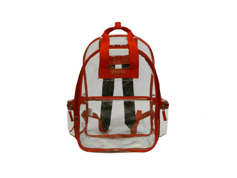 "Clear Transparent Large 16"" School Backpack Security Bag RD"