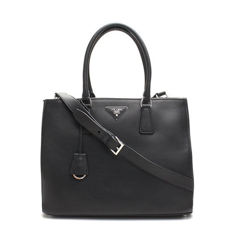 Prada Prada City Calf Bag (Nero) Bags - DNovo