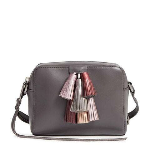 Rebecca Minkoff Mini Sofia Crossbody Bag (Grey Metallic)