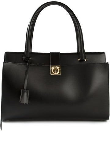 Salvatore Ferragamo Mandy Tote Bag (Nero) # 21E5250570524