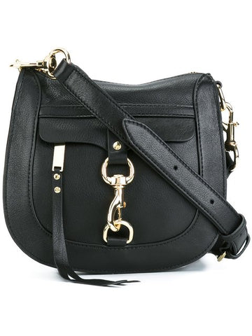 Rebecca Minkoff 'Dog Clip' Saddle Bag (Black)