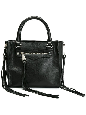 Rebecca Minkoff Fringed Details Mini Tote Bag (Black)