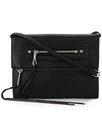 Rebecca Minkoff Long Fringes Crossbody Bag (Black)