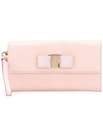Salvatore Ferragamo Vara Long Wallet With Strap (Bon Bon) # 22C423643645