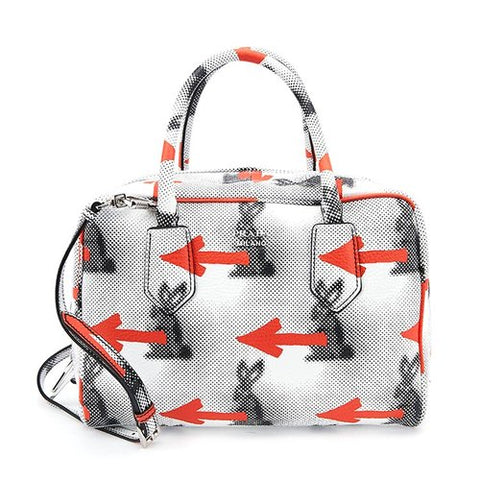 Prada Prada Daino St. Rabbit Medium Inside Bag (White) Bags - DNovo