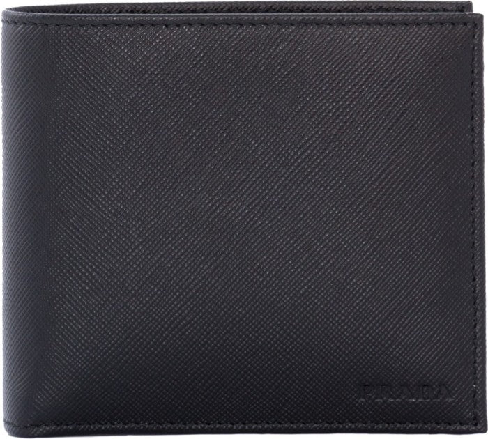 642eb9f71262 Prada Prada Saffiano Bifold Wallet with Coin Pouch (Nero) Small Leather  Goods - DNovo