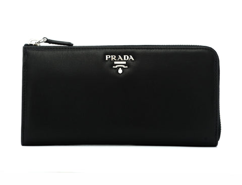 Prada Prada Soft Calf Half Zip Around Wallet Small Leather Goods - DNovo