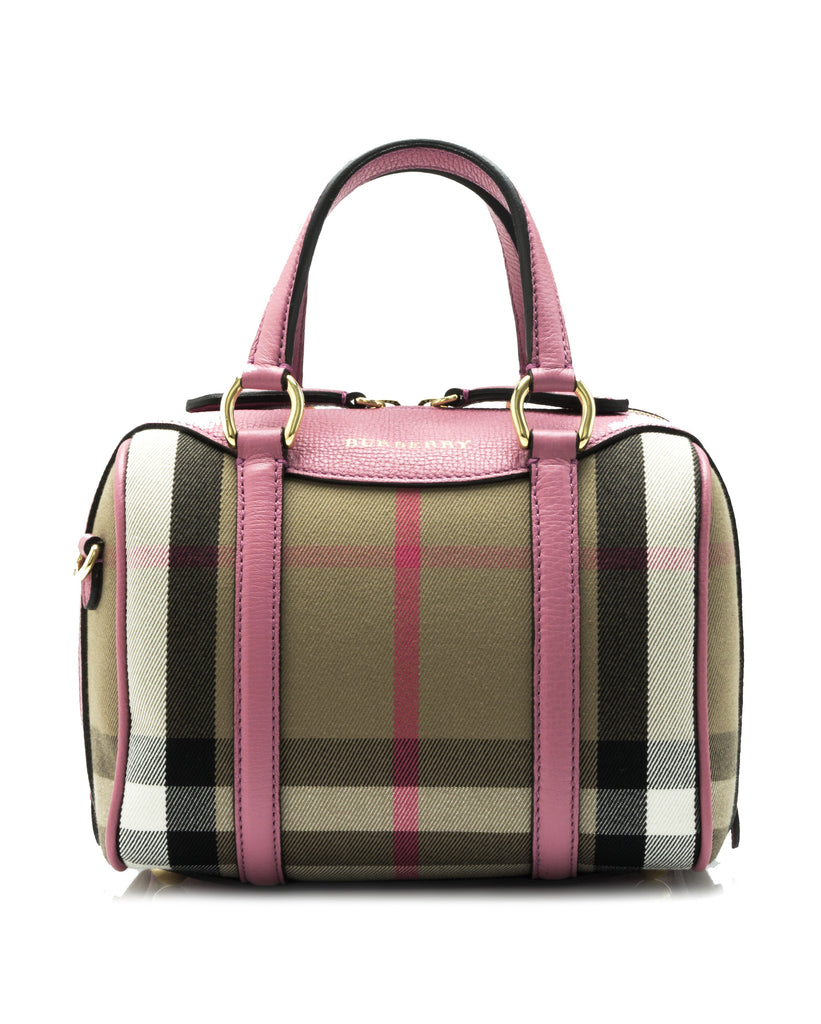 d1f5e88395ce Burberry Burberry House Check Derby Leather Small Alchester Bowling Bag Bags  - DNovo