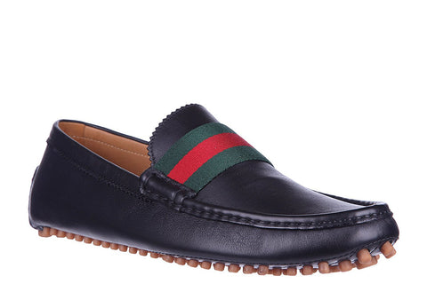 Gucci Gucci Leather Pebble Bottom Driver Footwear - DNovo