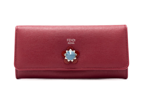 Fendi Fendi Flowerland Continental Wallet Small Leather Goods - DNovo