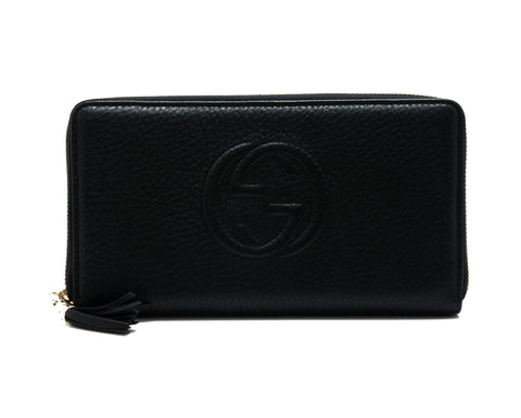 Gucci Gucci Soho Leather Zip Around Wallet Small Leather Goods - DNovo