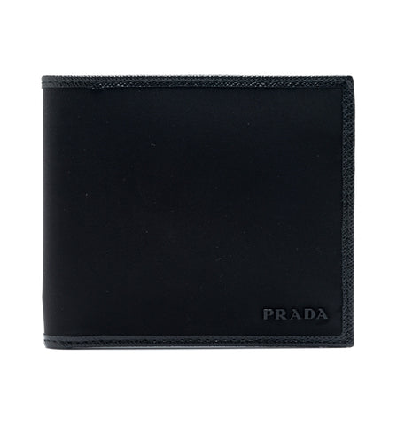 Prada Prada Tessuto Horizontal Bifold Wallet (Nero) Small Leather Goods - DNovo