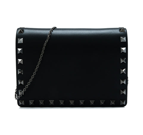 Valentino Garavani Valentino Garavani Rockstud Noir Crossbody Bag [AS-IS] Bags - DNovo