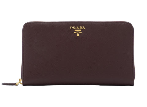 Prada Prada Saffiano Metal Zip Around Wallet Small Leather Goods - DNovo