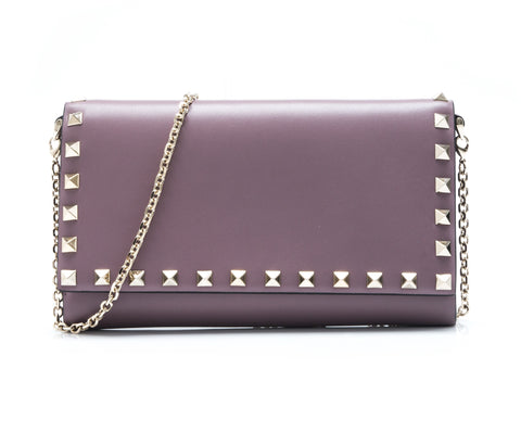 Valentino Garavani Valentino Garavani Rockstud Wallet On Chain Small Leather Goods - DNovo