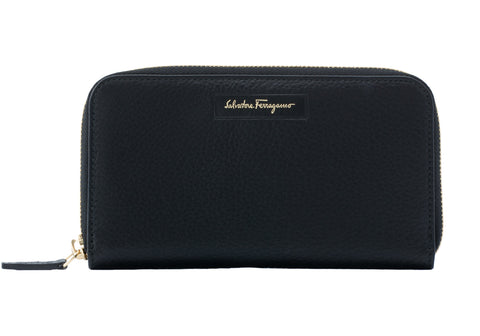 Salvatore Ferragamo Salvatore Ferragamo Leather Zip Around Wallet Small Leather Goods - DNovo