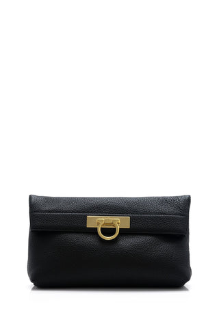 Salvatore Ferragamo May Clutch (Nero) # 21F56201628825
