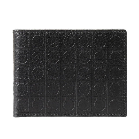 Salvatore Ferragamo Salvatore Ferragamo Bifold Wallet (Deep Black) # 669411568270 Small Leather Goods - DNovo