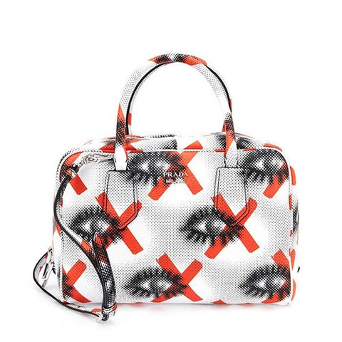 Prada Prada Daino St. Eye Medium Inside Bag (White) Bags - DNovo
