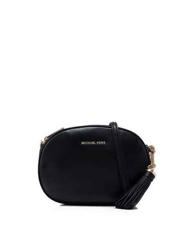 Michael Kors Michael Kors Ginny Medium Messenger Bag (Black) Bags - DNovo
